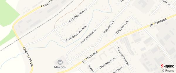 Набережная улица на карте села Кандры с номерами домов