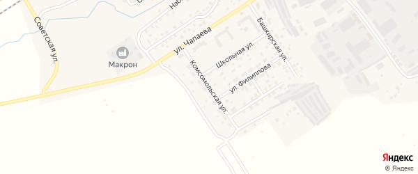 Комсомольская улица на карте села Кандры с номерами домов