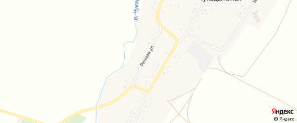 Речная улица на карте села Чукадытамака с номерами домов