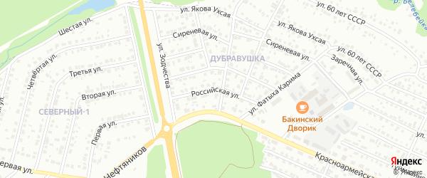 Российская улица на карте Белебея с номерами домов