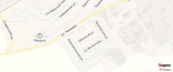 Школьная улица на карте села Кандры с номерами домов