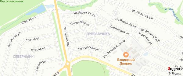 Снежная улица на карте Белебея с номерами домов