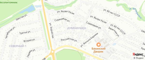 Солнечная улица на карте Белебея с номерами домов