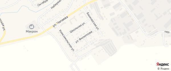 Башкирская улица на карте села Кандры с номерами домов