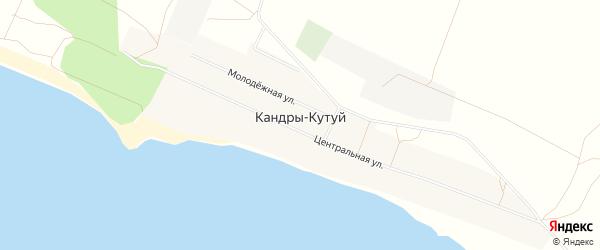 Карта села Кандры-Кутуй в Башкортостане с улицами и номерами домов