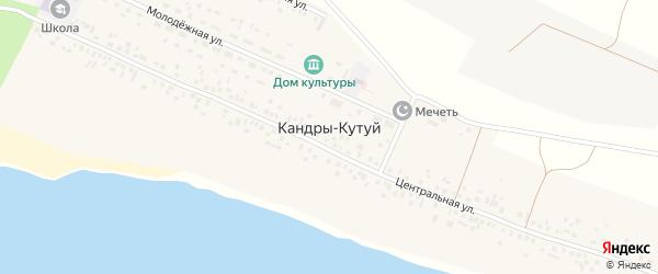 Озерный переулок на карте села Кандры-Кутуй с номерами домов