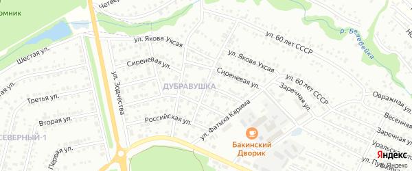 Рябиновая улица на карте Белебея с номерами домов