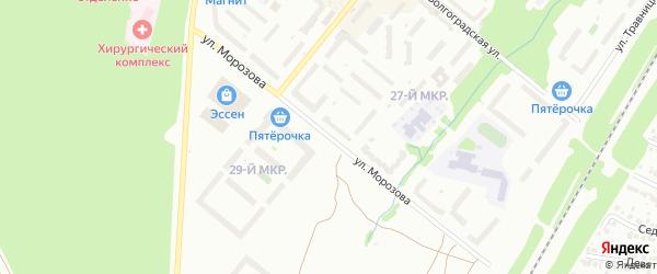 Улица им Морозова на карте Белебея с номерами домов