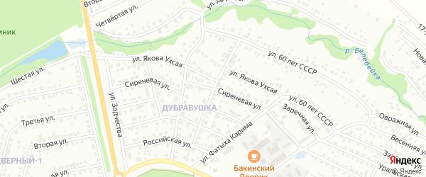 Молодежная улица на карте Белебея с номерами домов