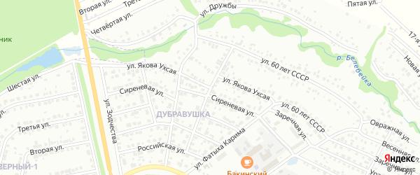 Им Я.Ухсая улица на карте Белебея с номерами домов