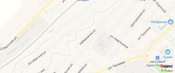 Рабочая улица на карте села Кандры с номерами домов
