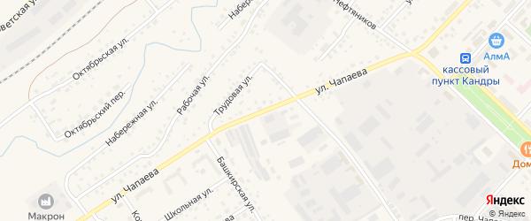 Улица Чапаева на карте села Кандры с номерами домов