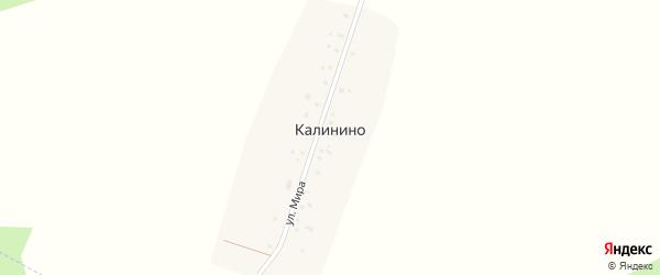 Улица Мира на карте деревни Калинино с номерами домов