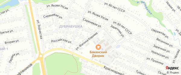 Улица им Фатыха Карима на карте Белебея с номерами домов
