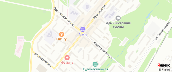 Волгоградская улица на карте Белебея с номерами домов