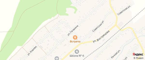 Улица Гагарина на карте села Кандры с номерами домов