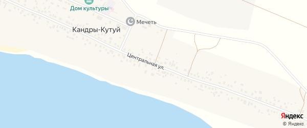Центральная улица на карте деревни Нура с номерами домов