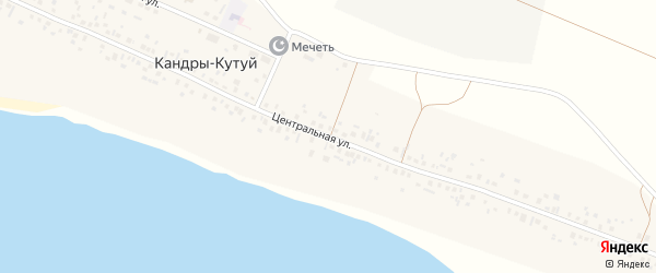 Центральная улица на карте деревни Малый Тукмак-Каран с номерами домов
