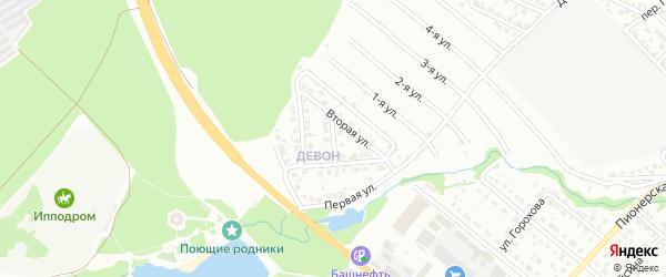 Четвертая улица на карте района Девона с номерами домов