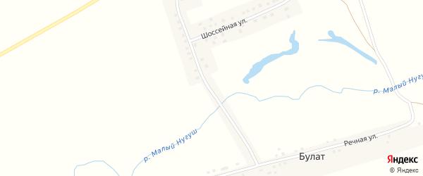 Шоссейная улица на карте деревни Булата с номерами домов