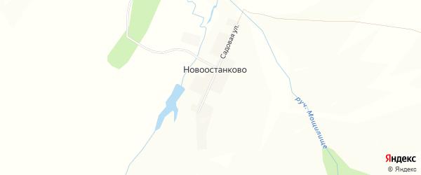 Карта деревни Новоостанково в Башкортостане с улицами и номерами домов