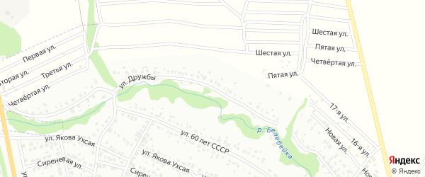 Улица Дружбы на карте Белебея с номерами домов