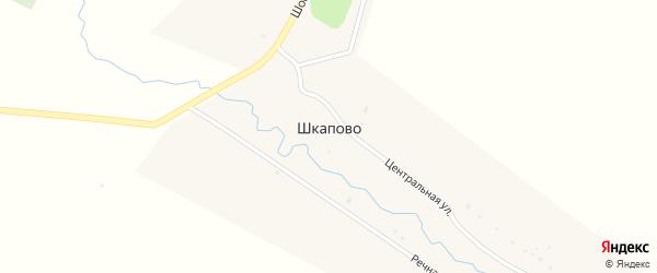 Центральная улица на карте села Шкапово с номерами домов