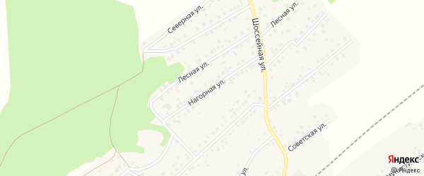 Нагорная улица на карте села Кандры с номерами домов