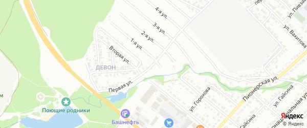 Первая улица на карте района Девона с номерами домов