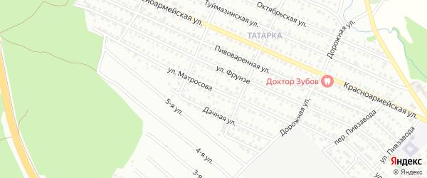 Улица Матросова на карте Белебея с номерами домов