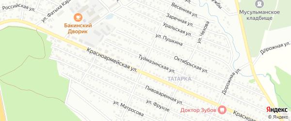 Улица Салава Юлаева на карте Белебея с номерами домов