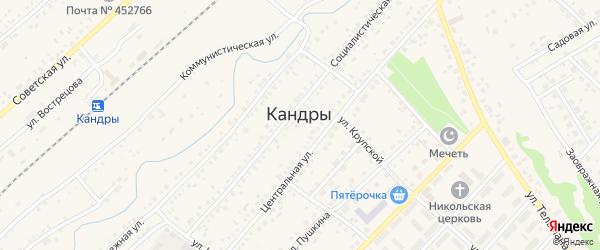 Переулок Мирзагитова на карте села Кандры с номерами домов