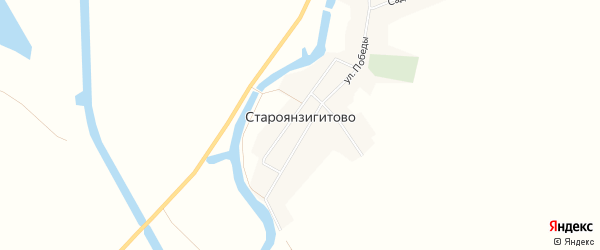 Карта села Староянзигитово в Башкортостане с улицами и номерами домов