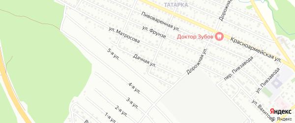 Дачная улица на карте Белебея с номерами домов