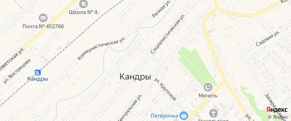 Социалистическая улица на карте села Кандры с номерами домов