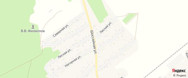 Шоссейная улица на карте села Кандры с номерами домов