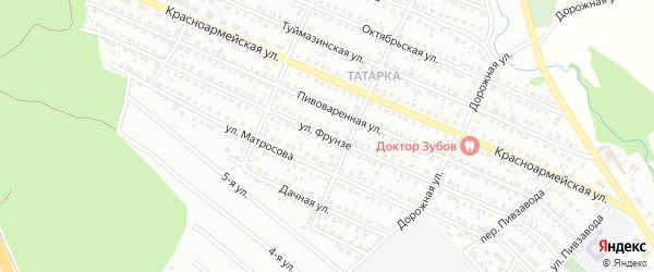 Улица Фрунзе на карте Белебея с номерами домов