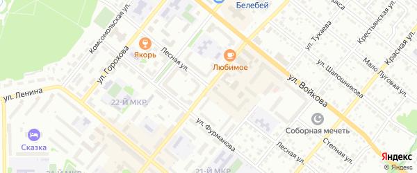 Лесная улица на карте Белебея с номерами домов
