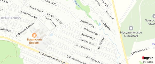 Заречная улица на карте Белебея с номерами домов