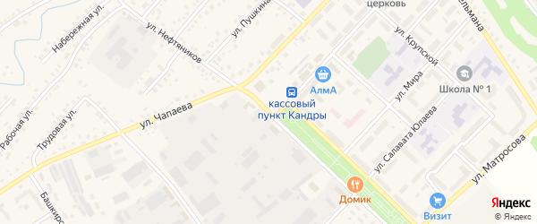 Улица Нефтяников на карте села Кандры с номерами домов