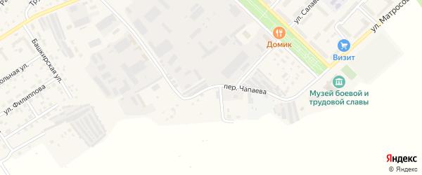 Переулок Чапаева на карте села Кандры с номерами домов