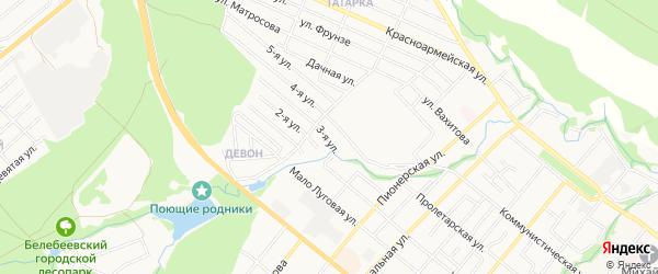 СТ Родничок на карте Белебея с номерами домов