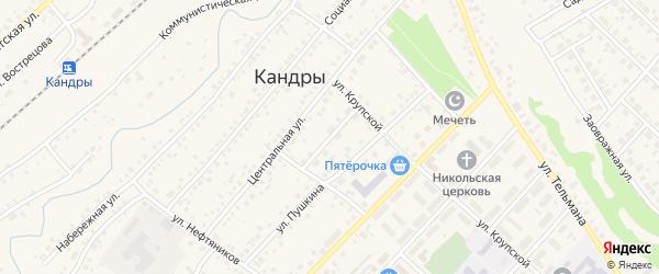 Переулок Пушкина на карте села Кандры с номерами домов