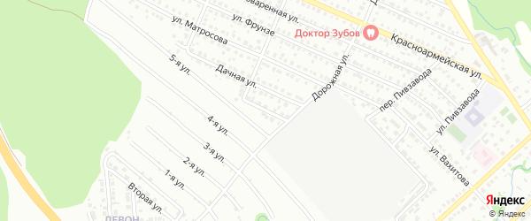 Спортивная улица на карте Белебея с номерами домов