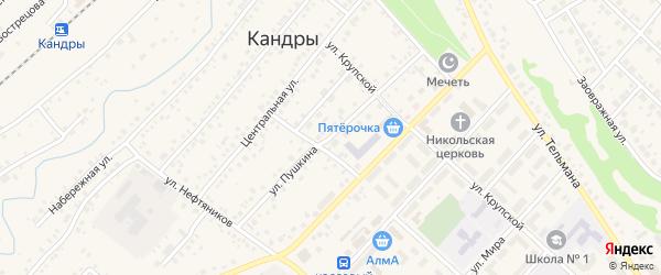 Улица Пушкина на карте села Кандры с номерами домов