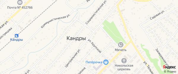 Центральная улица на карте села Кандры с номерами домов