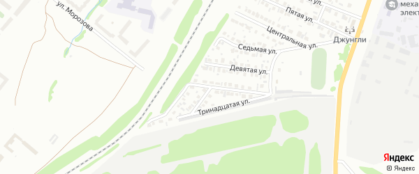 Одиннадцатая улица на карте Микрорайона Надежды с номерами домов