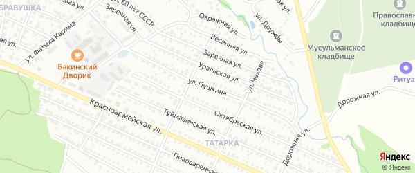 Улица Пушкина на карте Белебея с номерами домов