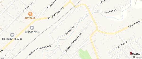 Речная улица на карте села Кандры с номерами домов