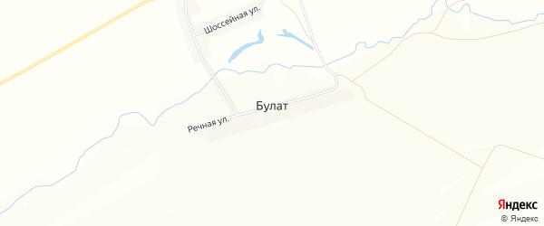 Карта деревни Булата в Башкортостане с улицами и номерами домов
